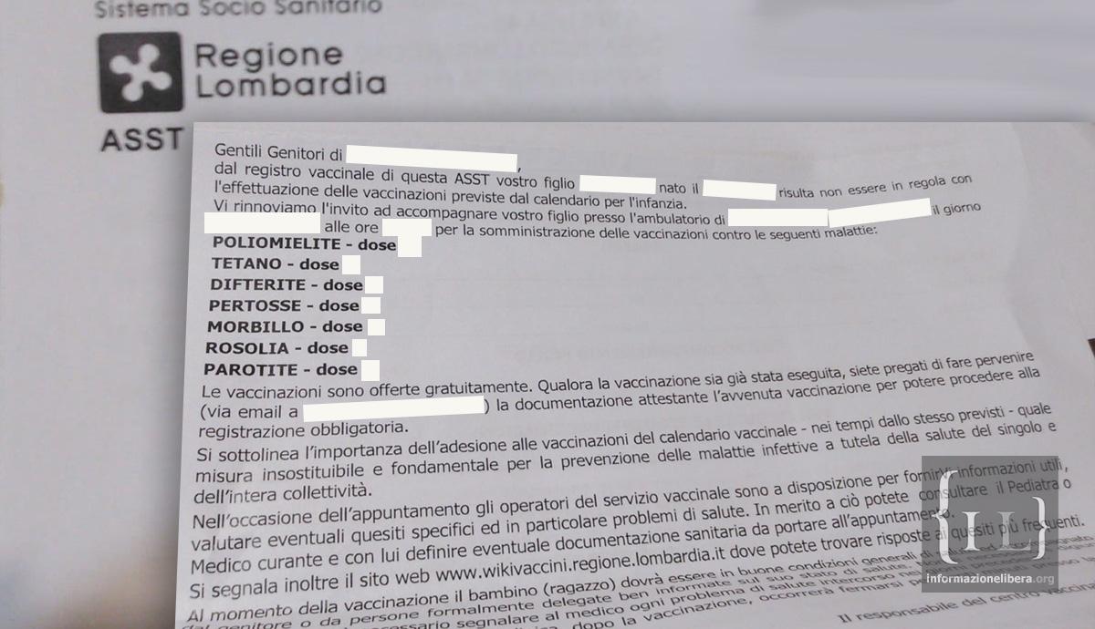 Calendario Vaccinazioni Lombardia.Anagrafe Vaccinale Pericolosi Errori Omissioni O Che Altro